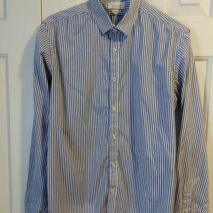 Zara Man Men's Size M neck 15 Button slim shirt